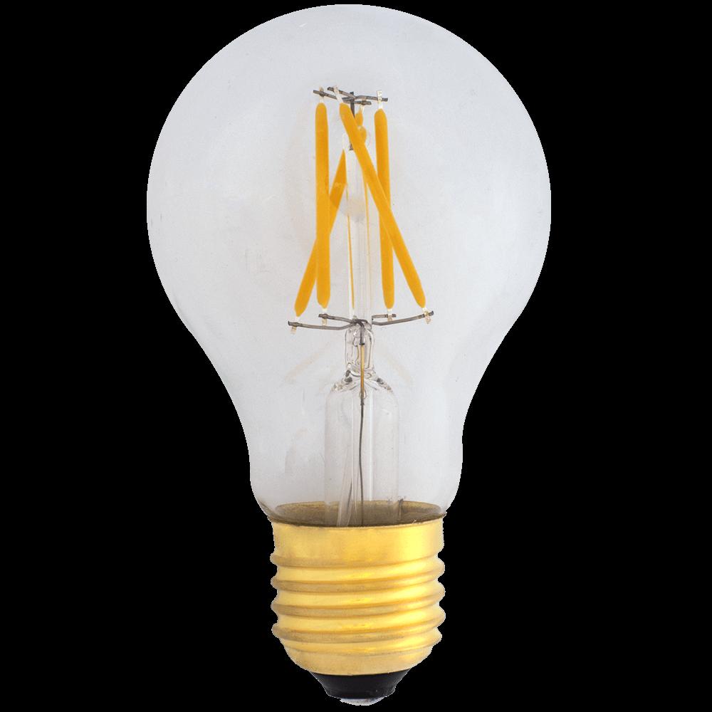 na zdjęciu Żarówka dekoracyjna LED filament A19 Deco E27 230V 4W 2700K ściemnialna Eiko