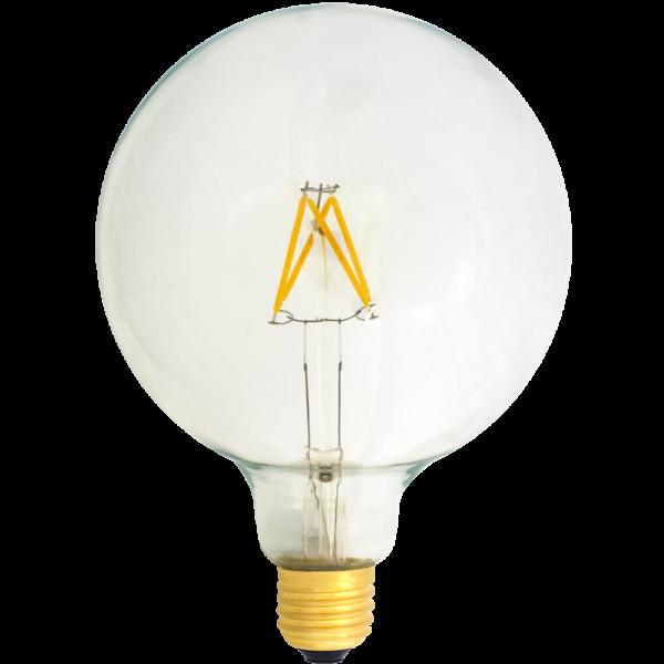 na zdjęciu widoczna jest Żarówka dekoracyjna LED filament duża kula G125 Deco LED E27 230V 4W 2700K Eiko