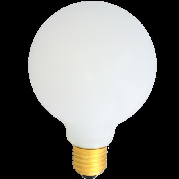 na zdjęciu Żarówka dekoracyjna LED filament G95 Deco LED E27 230V 4W 2700K opalizowana