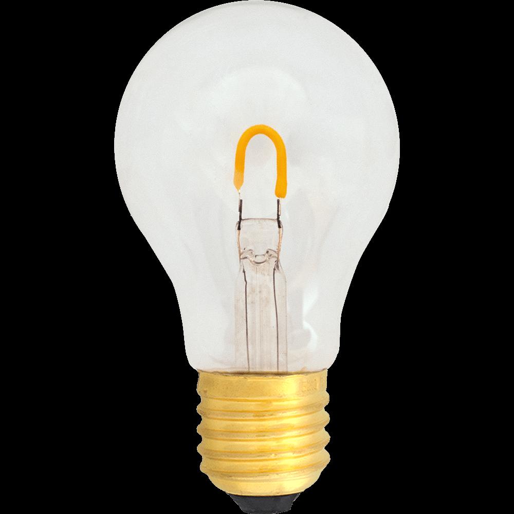 na zdjeciu a zdjęciu Żarówka dekoracyjna LED filament A19 Deco LED E27 230V 0.6W 2400K do girland świetlnych ogrodowych i żarówkowych