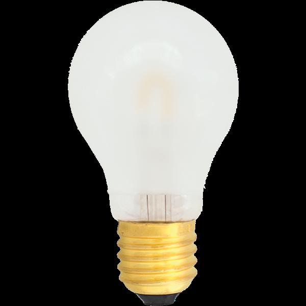 na zdjęciu Żarówka do girland LED filament A19 Deco LED E27 230V 1W 2400K oszroniona, mleczna Eiko