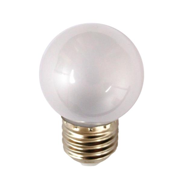 na zdjęciu Żarówka LED do girland G45 Deco LED E27 230V 0,7W 2500K mleczna Eiko