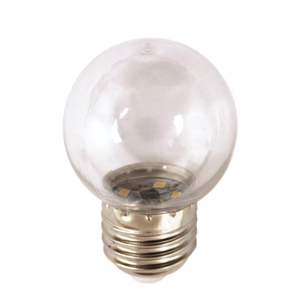 na zdjęciu Żarówka LED do girland G45 Deco LED E27 230V 0,7W 2500K plastikowa Eiko