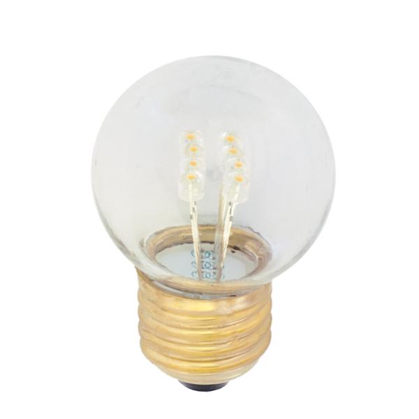 na zdjęciu Żarówka LED do girland G45 Deco LED E27 230V 1W 2500K plastikowa bańka Eiko
