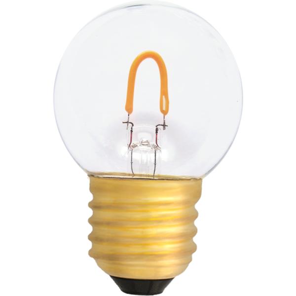 na zdjęciu Żarówka LED do girland filament G45 Deco LED E27 230V 0,6W 2400K plastikowa Eiko
