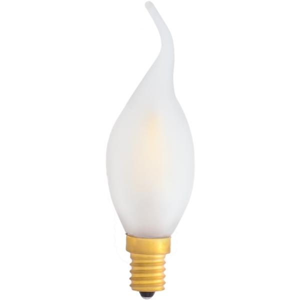 na zdjęciu Żarówka dekoracyjna LED filament C35 Deco LED E14 230V 2700K płomień ściemnialna do żyrandola Eiko