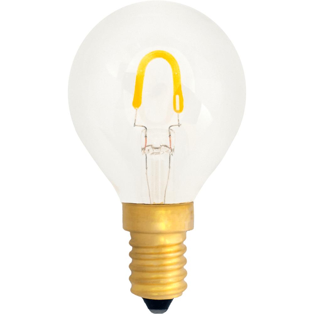 na zdjęciu Żarówka dekoracyjna LED filament G45 Deco LED E14 230V 0,6W 2400K Eiko