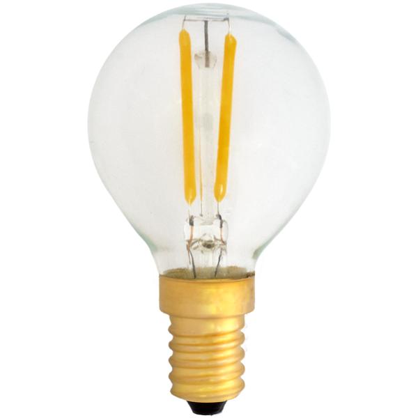 na zdjęciu Żarówka dekoracyjna LED filament G45 Deco LED E14 230V 2W 2400K Eiko