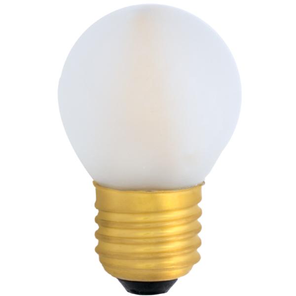 na zdjęciu Żarówka do girland LED filament G45 Deco LED E27 230V 1W 2400K mleczna Eiko