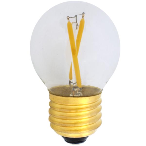na zdjęciu Żarówka do girland LED filament G45 Deco LED E27 230V 2W 2700K ściemnialna Eiko