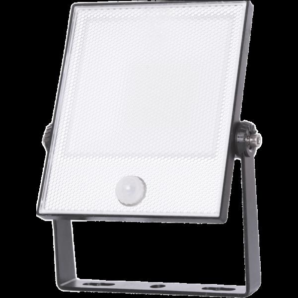 na zdjęciu Reflektor LED z czujnikiem ruchu, naświetlacz LED Eiko floodlight z czujnikiem ruchu