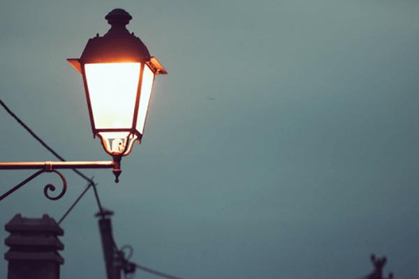 Na zdjęciu Lampa uliczna miejska starowka corn led zamiennik lamp hql